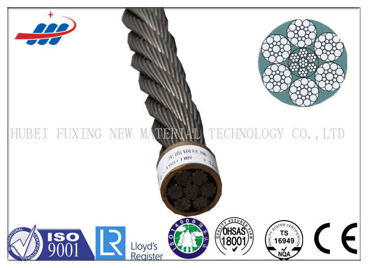 High Strength Tower Crane Wire Rope Zinc Plating With 10m-2000m / Reel