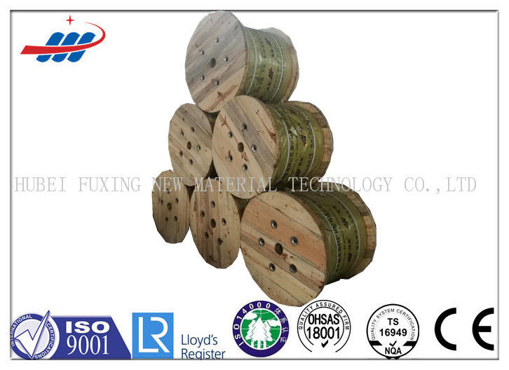Non Spin Fiber Core Wire Rope Ungalvanized Surface For Elevator / Lift