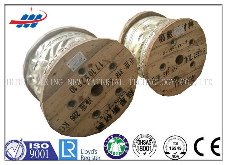 Dia 11mm Uncoated Elevator Wire Rope 8x19W+FC With 10m-2000m / Reel Length