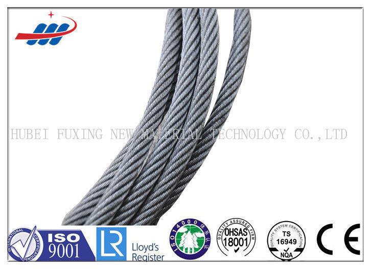 High Carbon Galvanized Steel Wire Rope 7*7 For Cable Car / Belt Conveyer